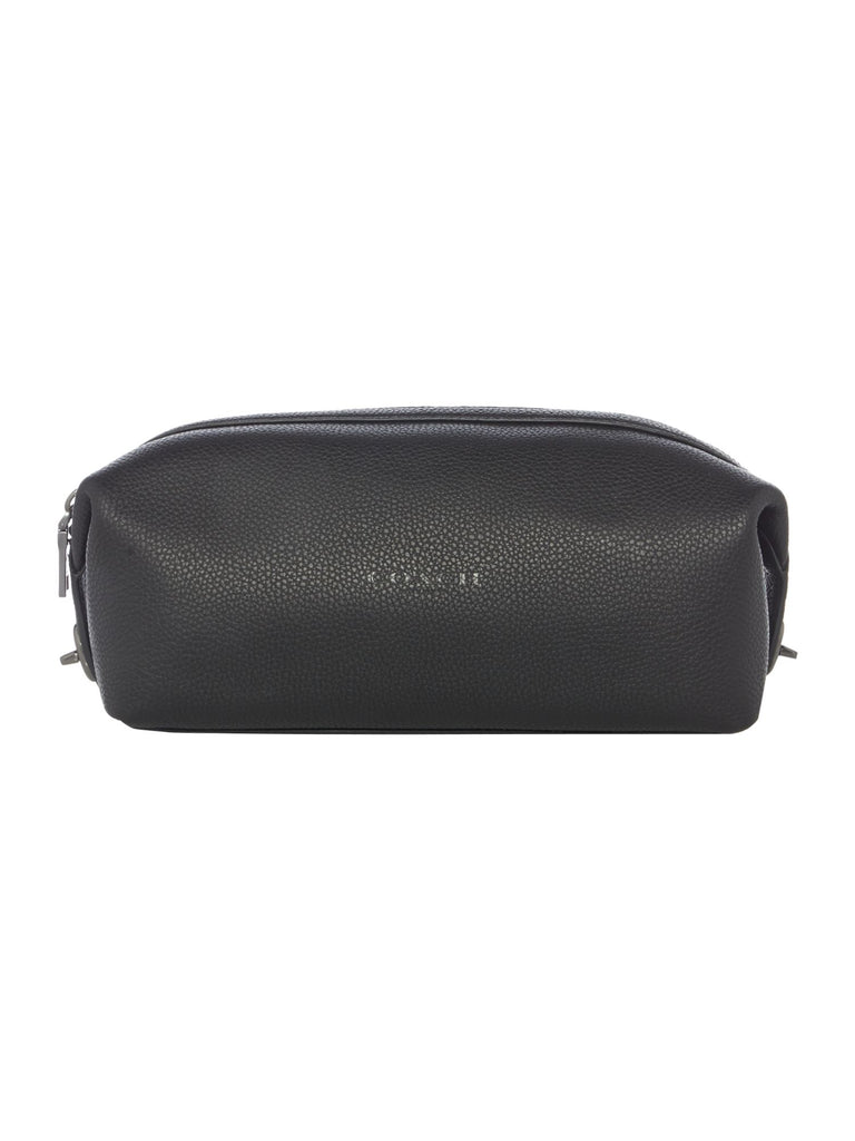 Coach Leather Travel Washbag- Black