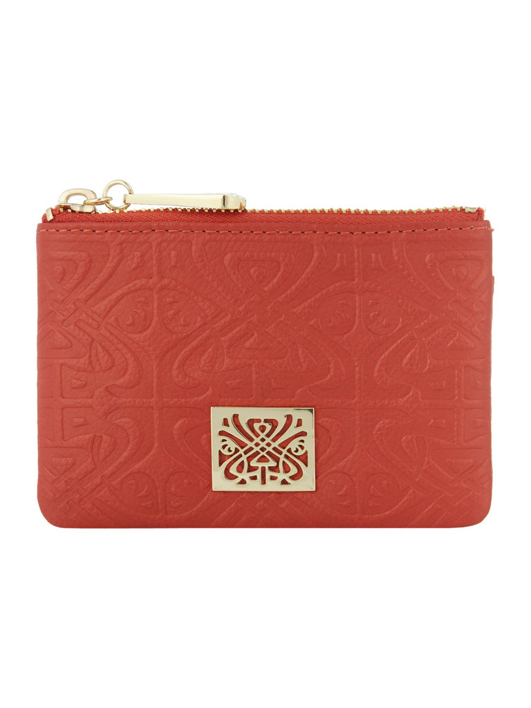 Biba Embossed Dana Coin Purse- Orange