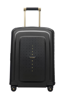 Samsonite S`cure Spinner DLX BlackGold Cabin 55cm Suitcase- Black