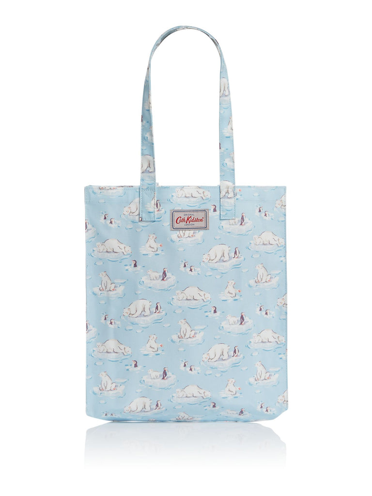 Cath Kidston Small polar bear book tote bag- Blue