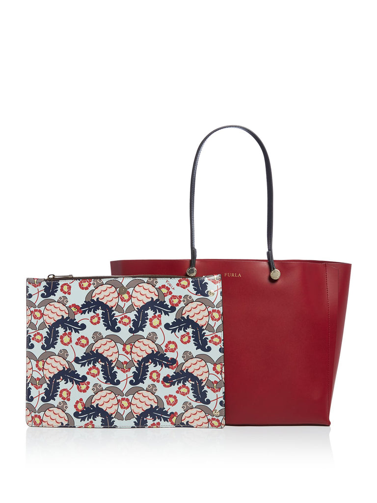 Furla Eden medium tote with pouch- Red