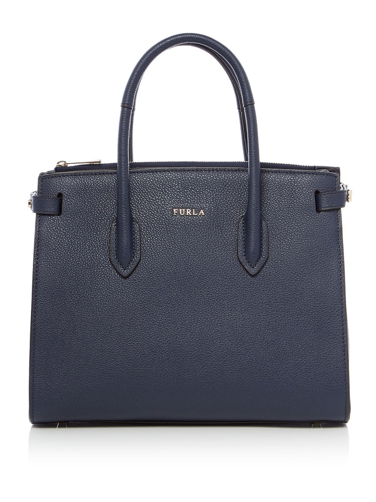 Furla Pin Small East West Tote- Blue