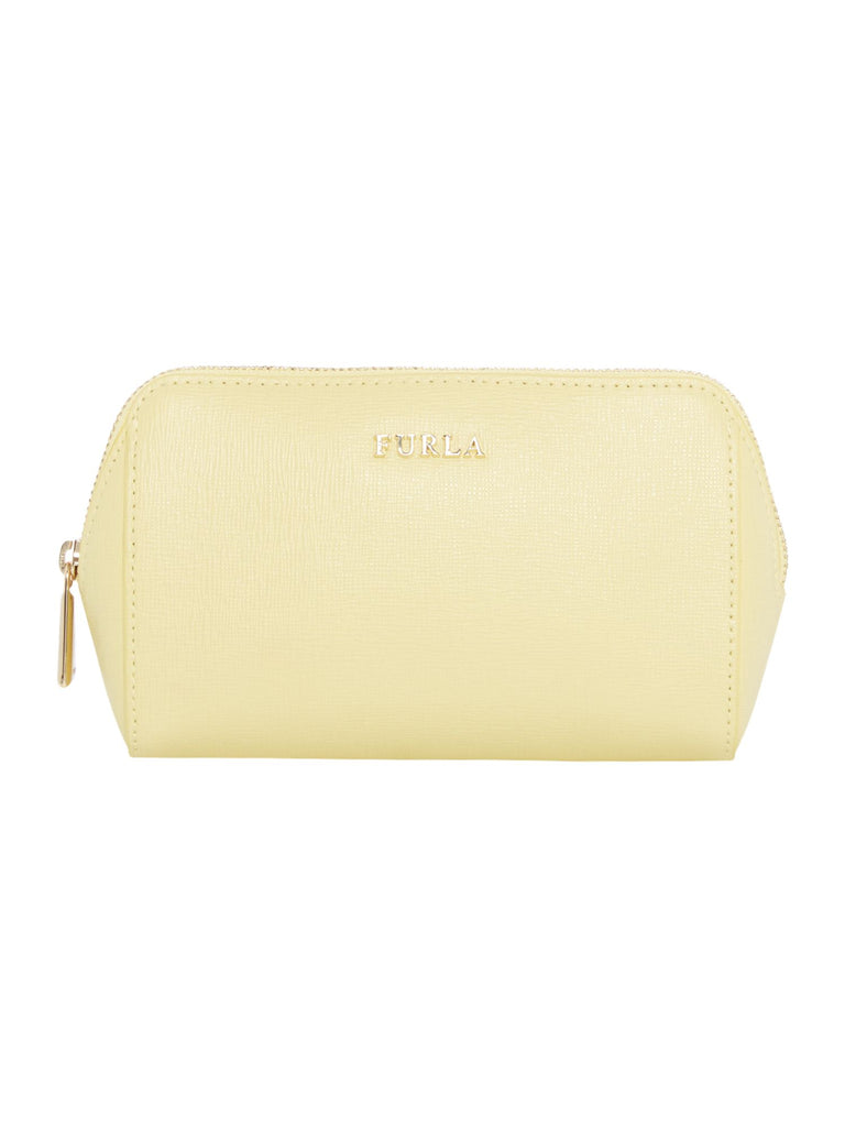 Furla Electra Medium Saffiano Makeup Bag- Yellow