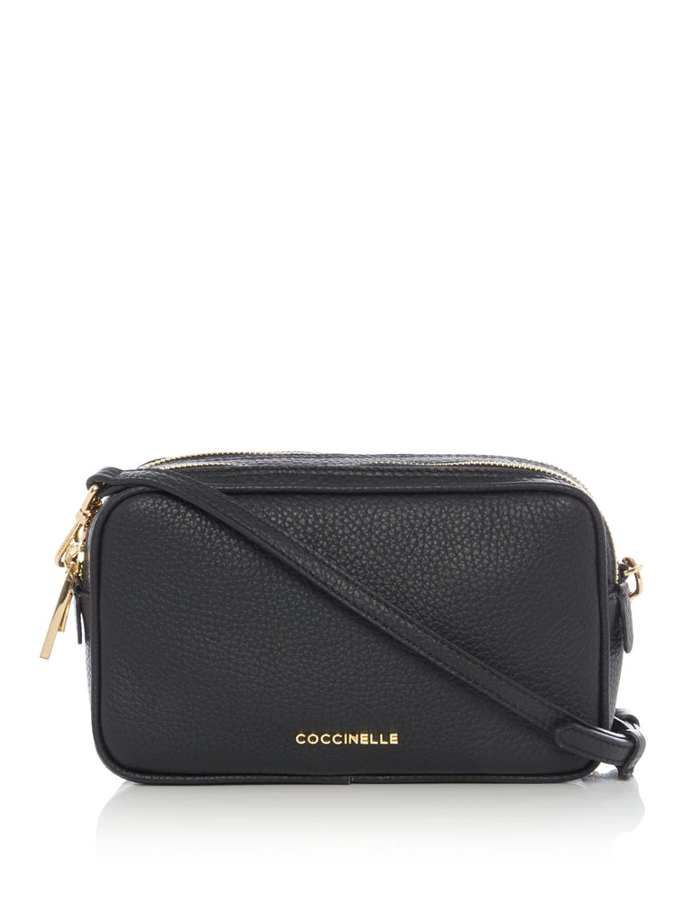 Coccinelle Surya bubble camera cross body bag- Black