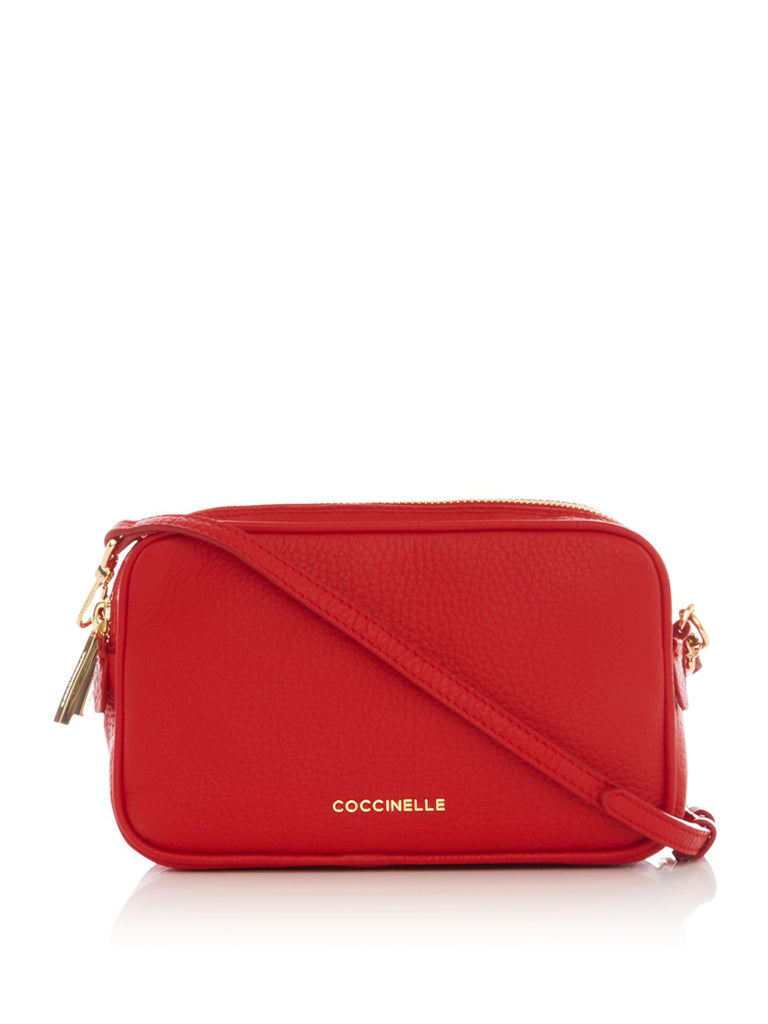 Coccinelle Surya bubble camera cross body bag- Red
