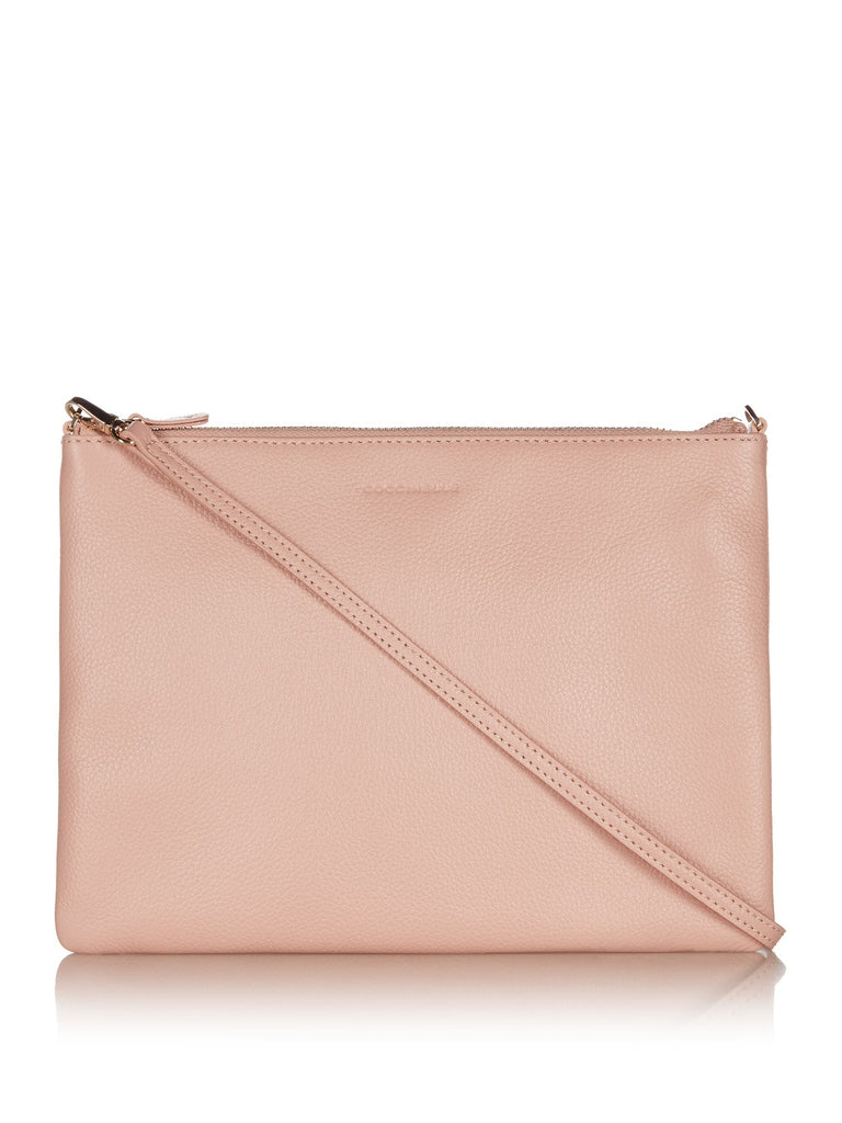Coccinelle Best soft leather cross body pouchette- Pink