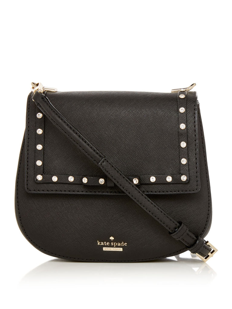 Kate Spade New York Cameron Street Studs Small Byrdie Crossbody Bag- Black