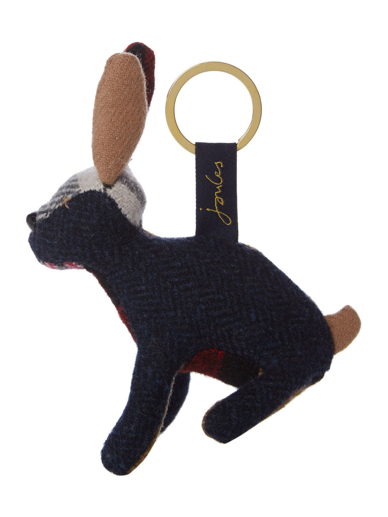 Joules Hare Tweedle Keyring- Check