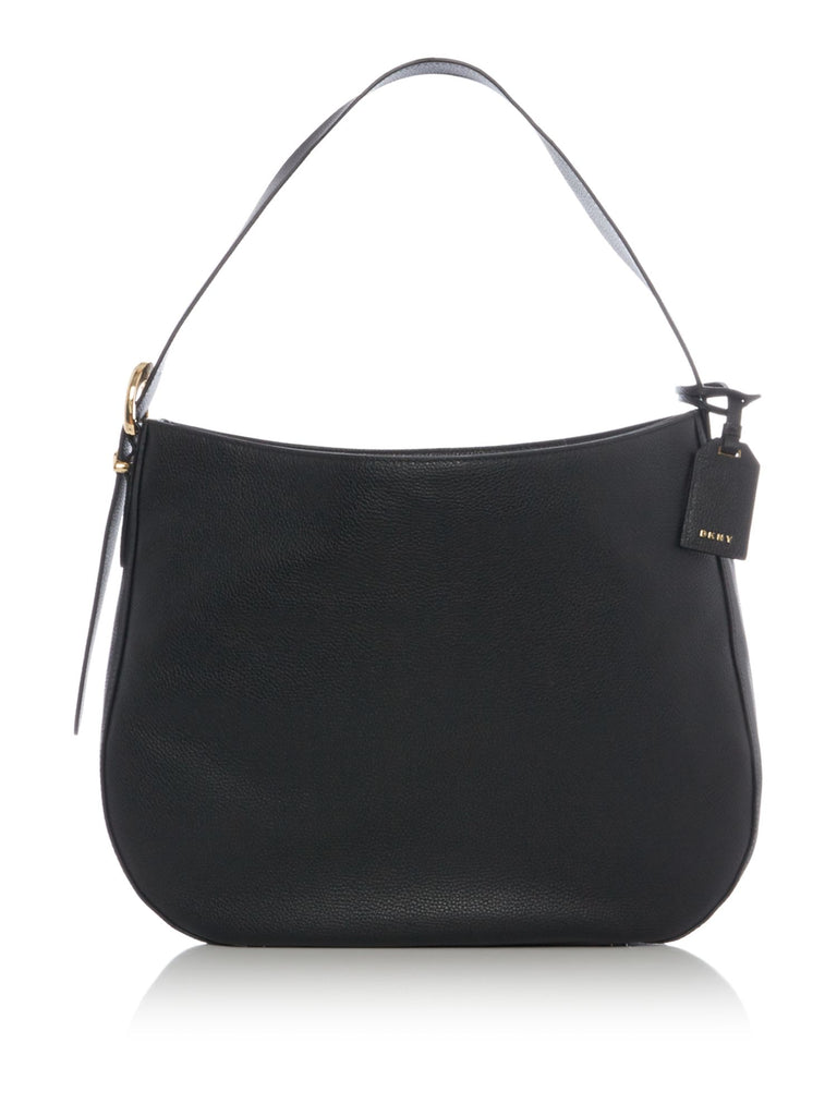 DKNY Pebbled bucke medium hobo- Black