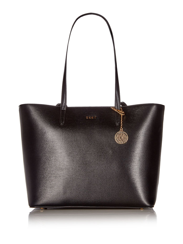 DKNY Sutton Chain Large Shoulder Tote- Black