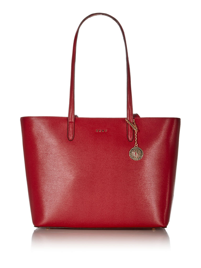 DKNY Sutton Chain Large Shoulder Tote- Red