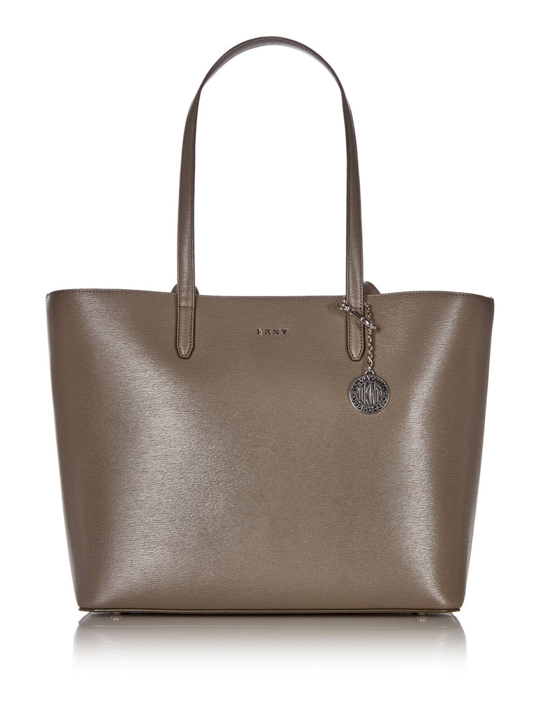 DKNY Sutton Chain Large Shoulder Tote- Grey