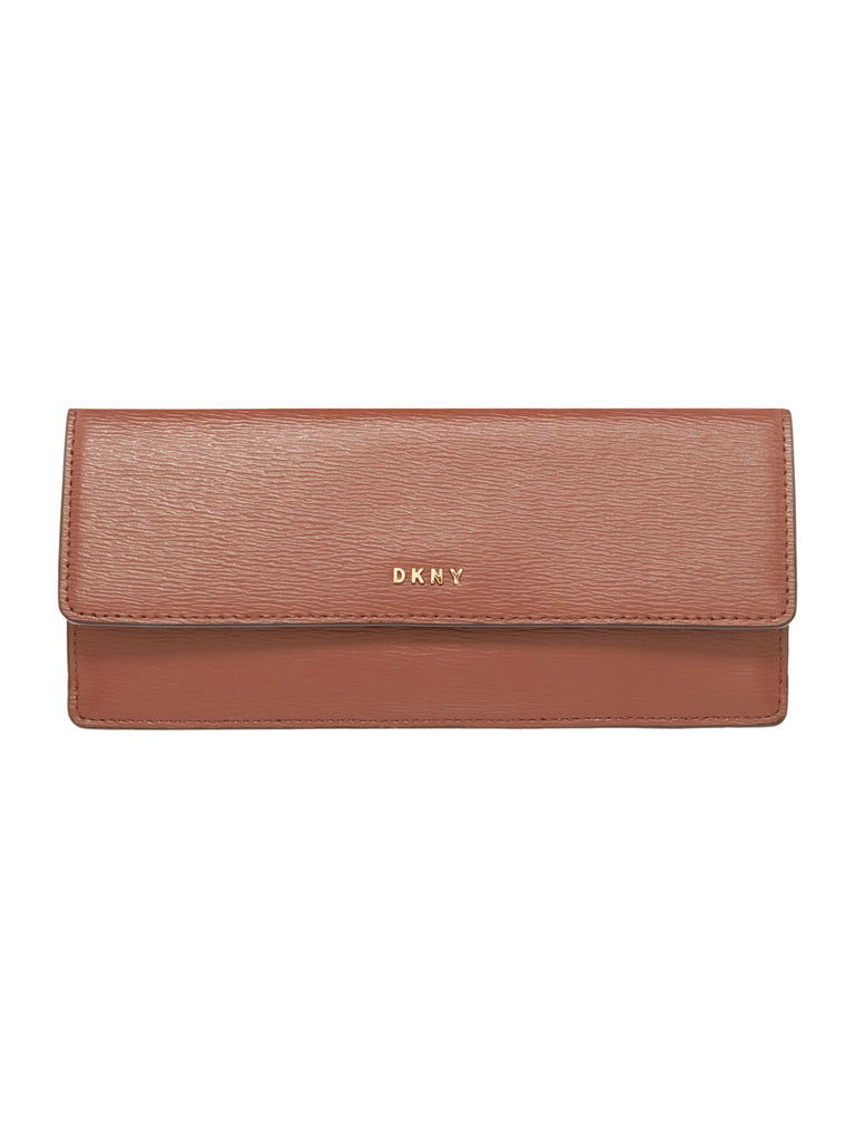 DKNY Sutton slim flap over purse- Brown