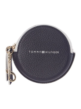 Tommy Hilfiger Novelty round coin purse keyring- Multi-Coloured