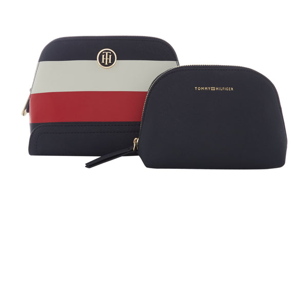 Tommy Hilfiger Honey stripe 2 in 1 makeup bag- Multi-Coloured