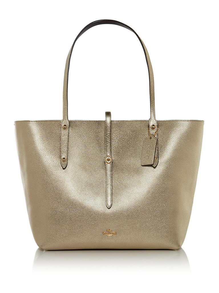 Coach Market Tote Bag- Gold Silverlic