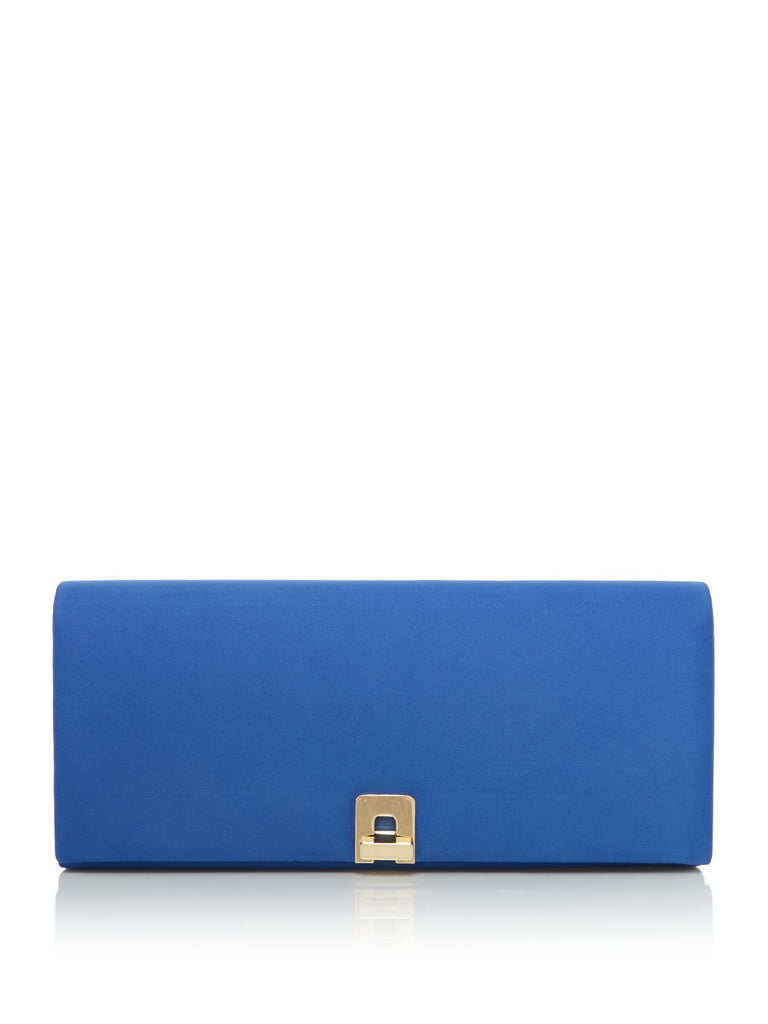 ISSA Lock baguette clutch- Blue