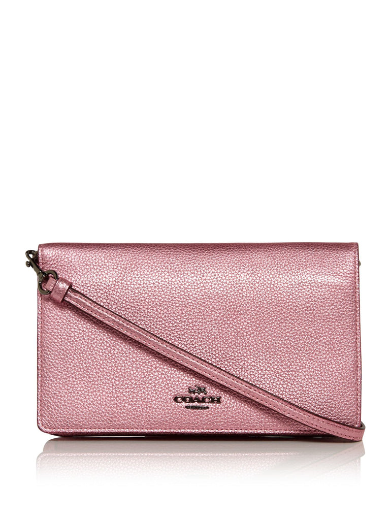 Coach Foldover Crossbody Bag- Pink