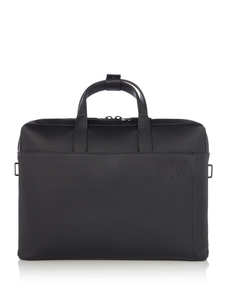 Calvin Klein Hi-Profile Slim Laptop Bag- Black