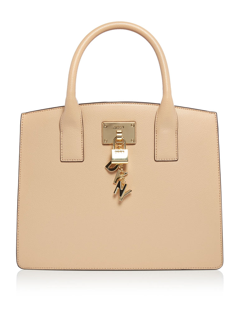 DKNY Elissa large tote with charms- Neutral