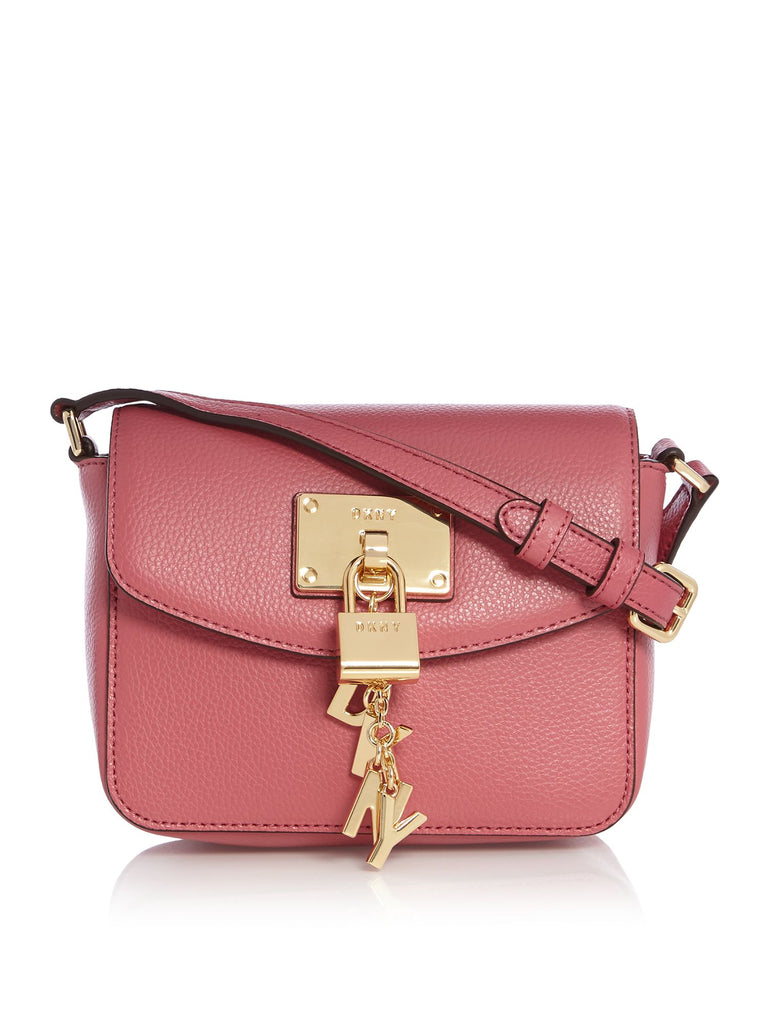 DKNY Elissa small flap over cross body bag- Pink
