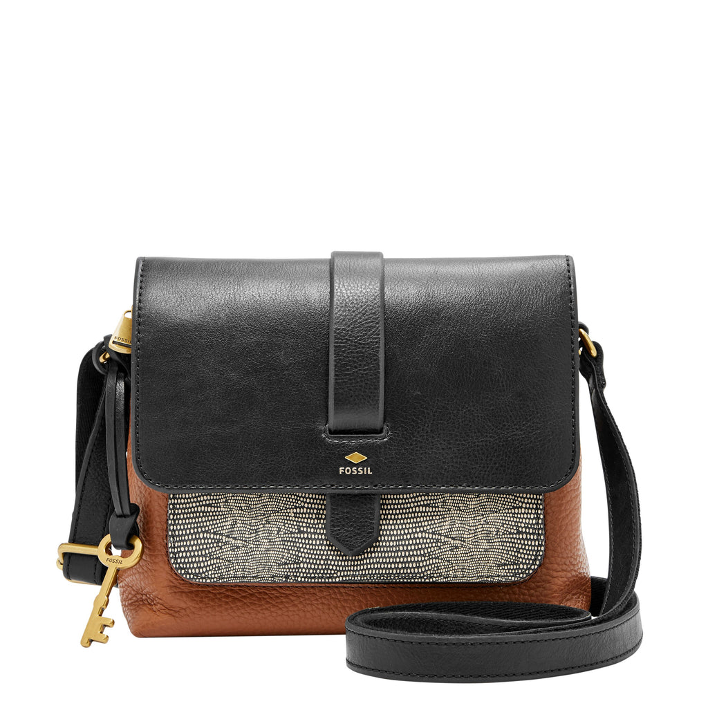 Fossil Kinley Small Crossbody Bag- Black & Brown