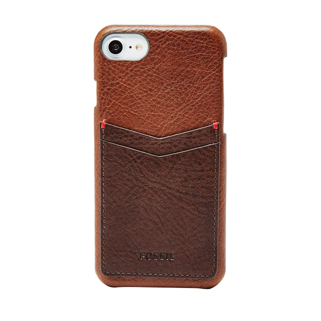 Fossil Leather Phone Case Wallet- Brown