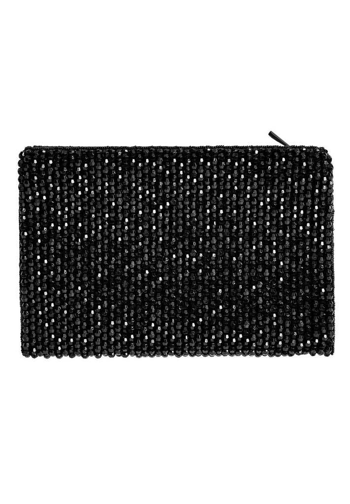 Hallhuber Beaded Evening Bag- Black