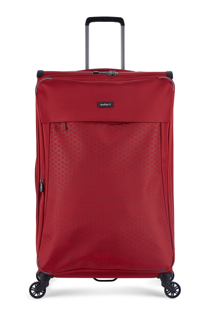 Antler Oxygen Red 4 Wheel Large 75cm Spinner Suitcase- Red