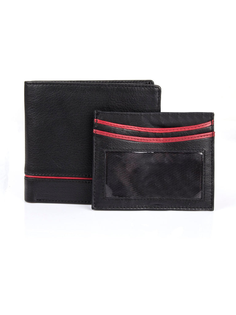 Dents Mens RFID credit card holder gift set- Black