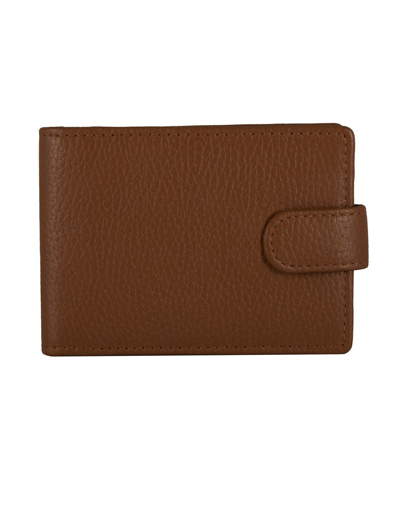 Dents Mens Rfid Protected Credit Card Holder- Cognac