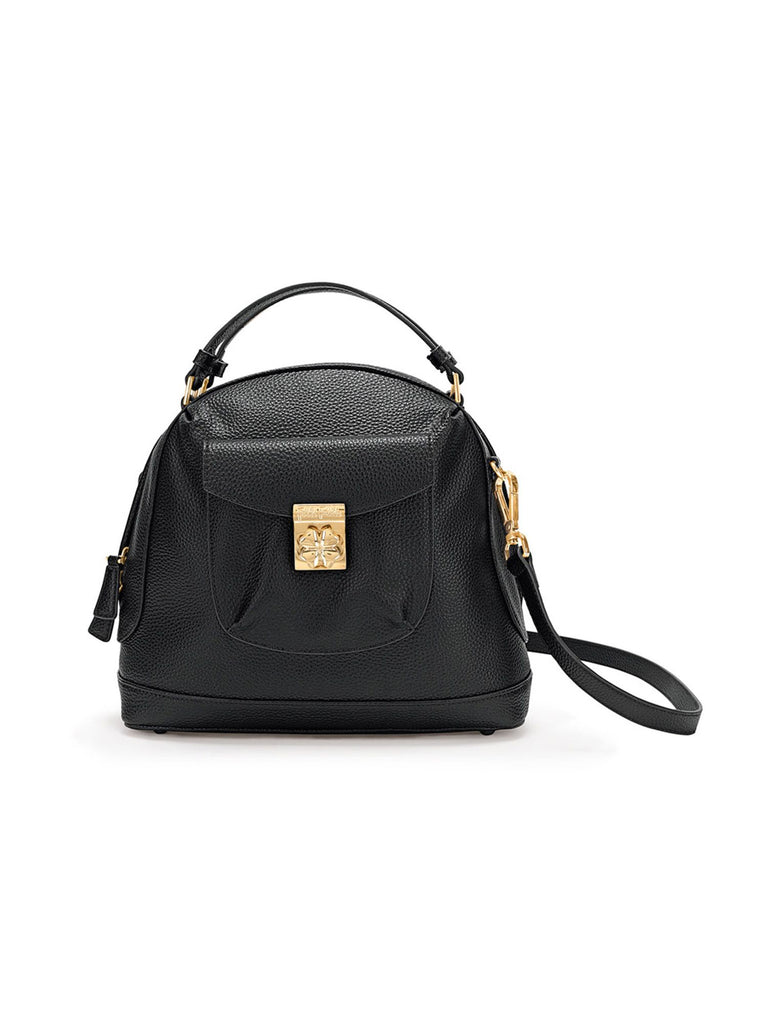 Folli Follie H4h arch small handbag- Black