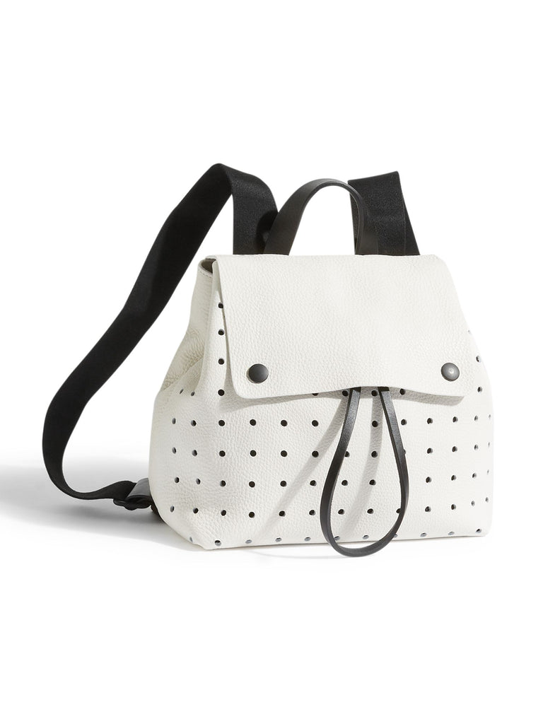 Jigsaw Blake Perforated Zip Backpack- White