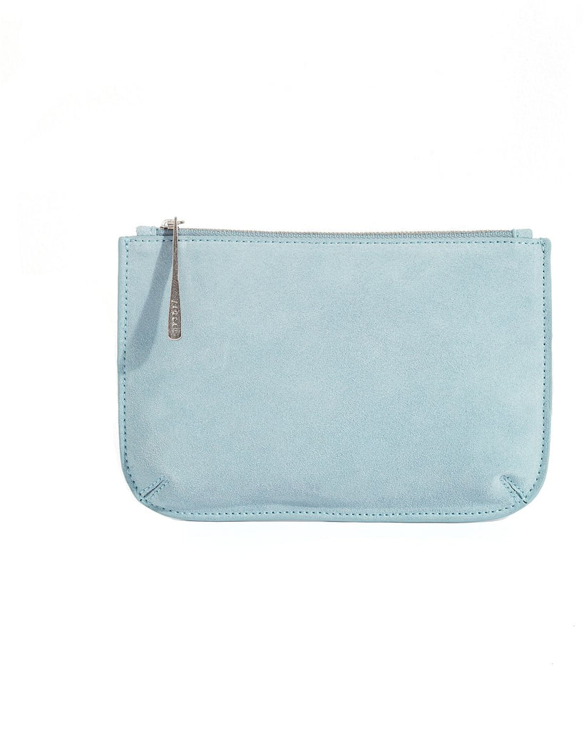 Jigsaw Alba Medium Leather Pouch- Chambray