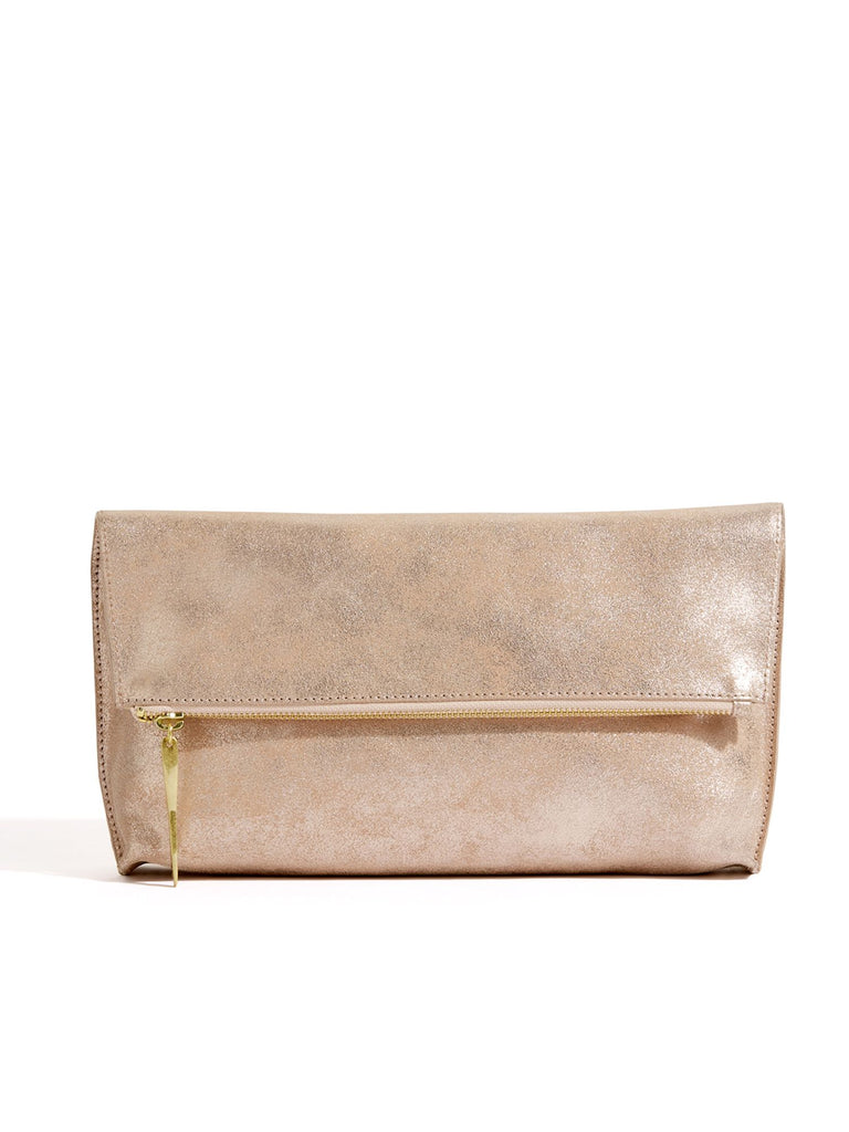 Jigsaw Alexis Fold Over Clutch- Rose Gold