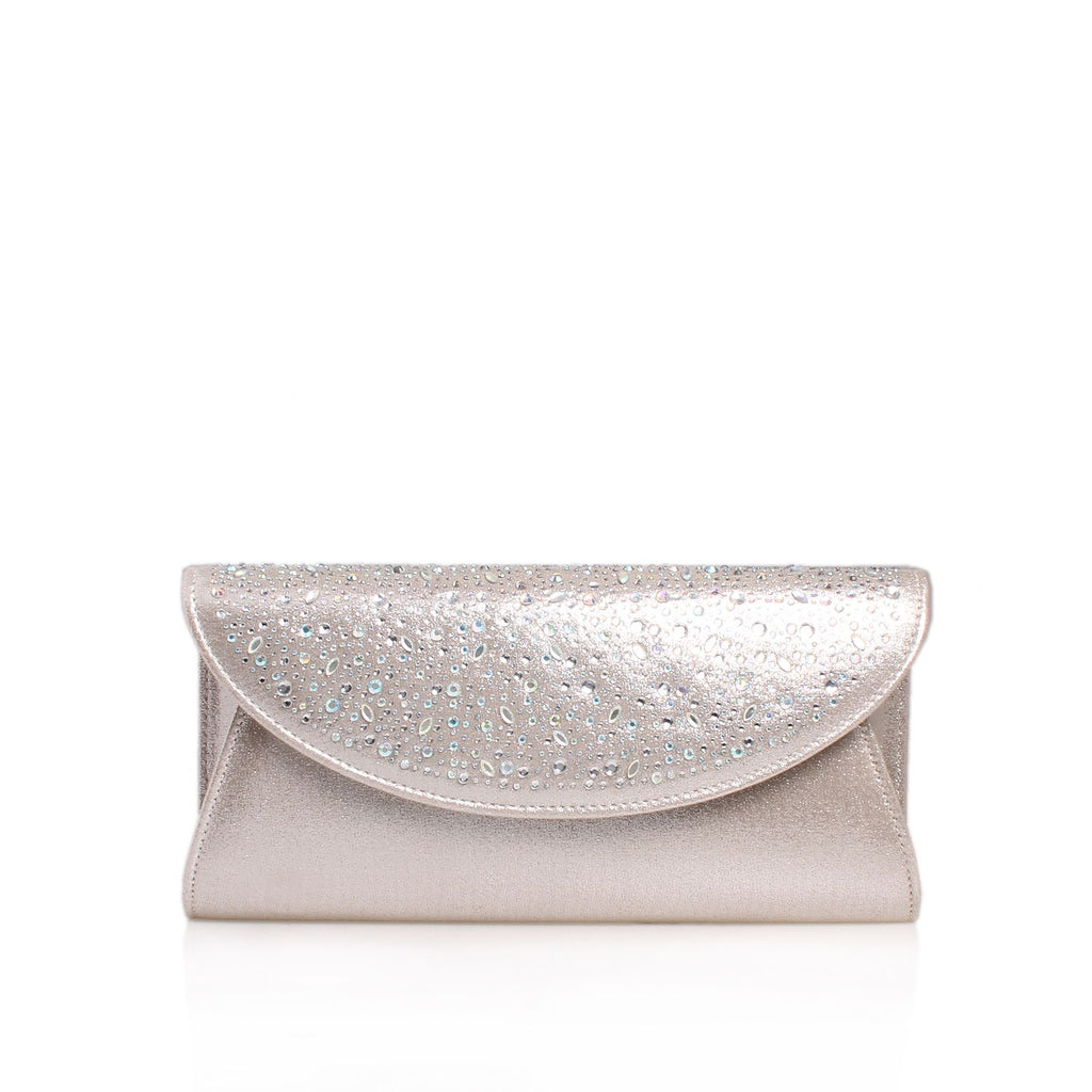 Carvela Delilah jewel 2 clutch bag- Silver