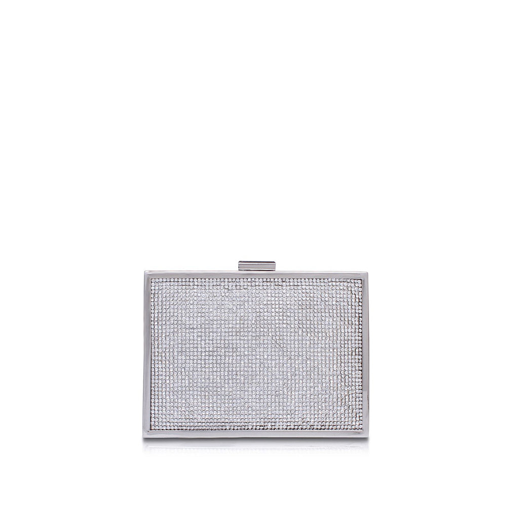 Carvela Destiny 2 clutch bag- Silver