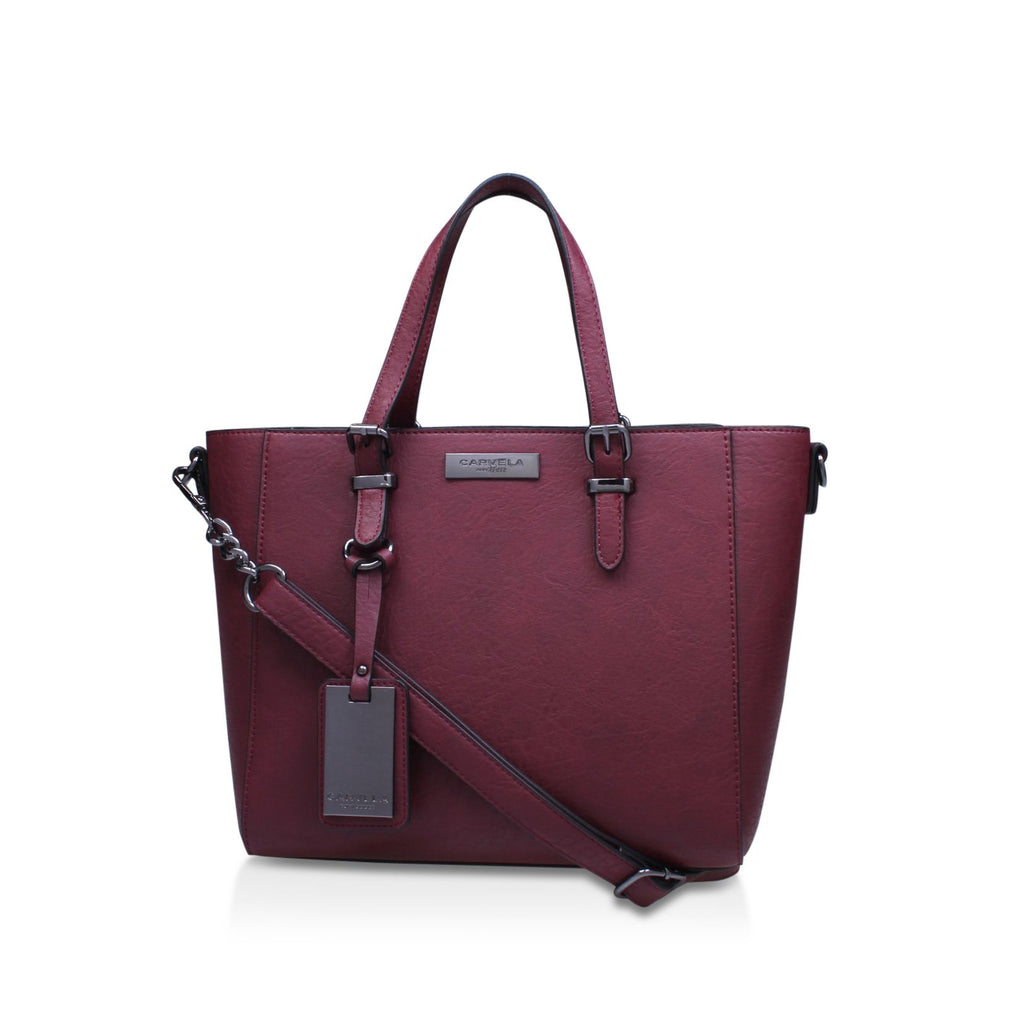 Carvela Danna2 winged tote bag- Wine