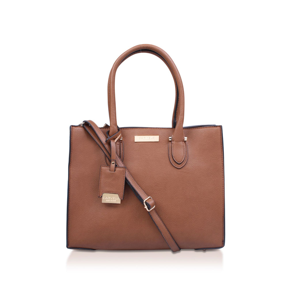 Carvela Robyn Structured Tote- Brown