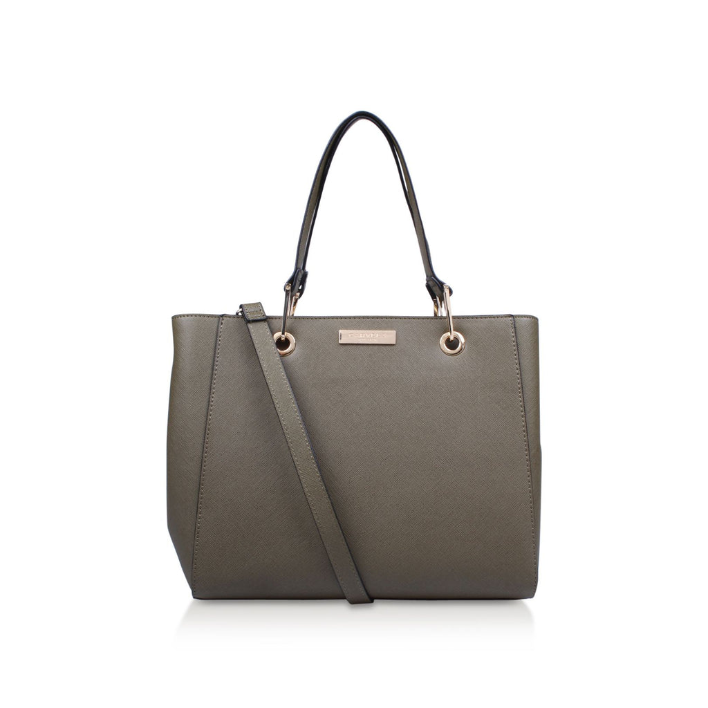 Carvela Reign Zip Structured Tote- Green