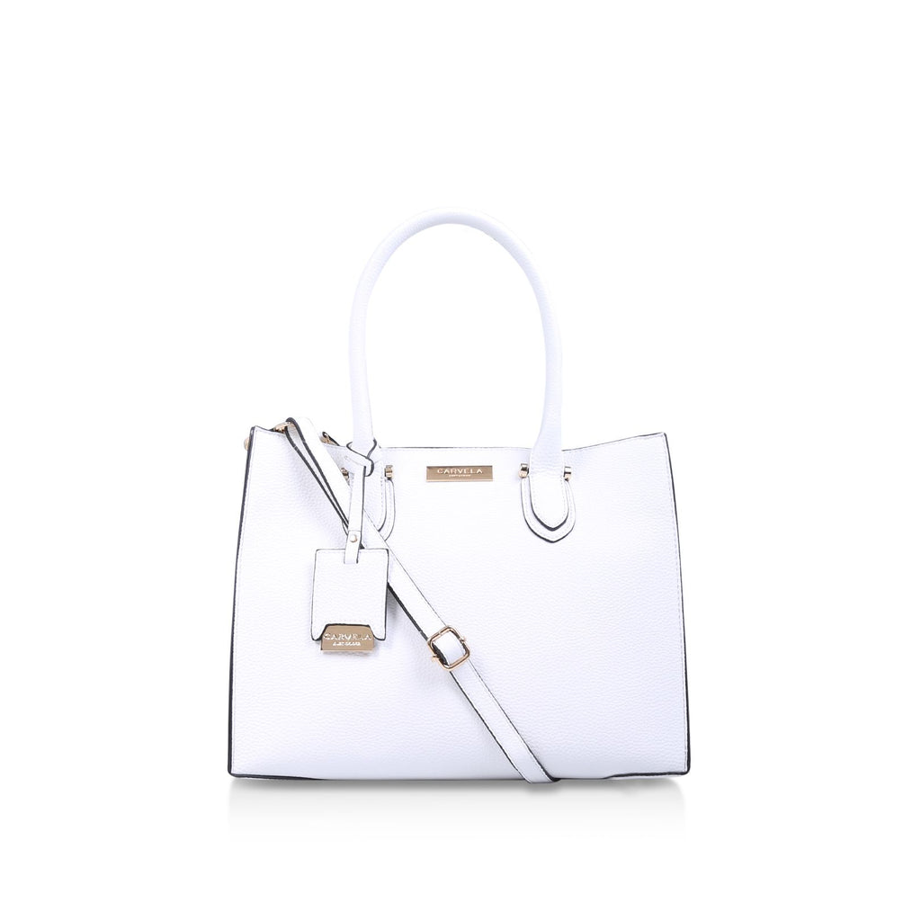 Carvela Robyn Structured Tote Bags- White