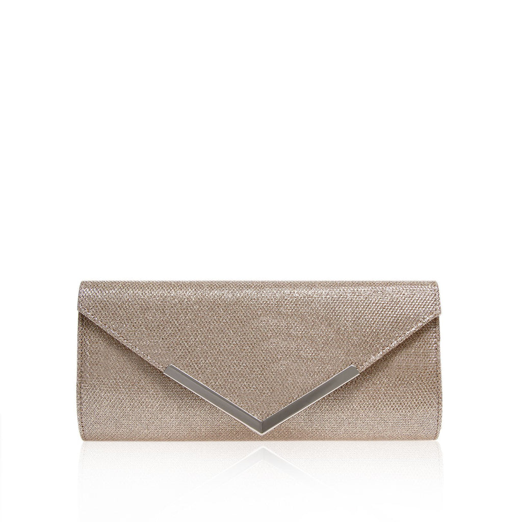 Carvela Daphne envelope clutch bag- Silver