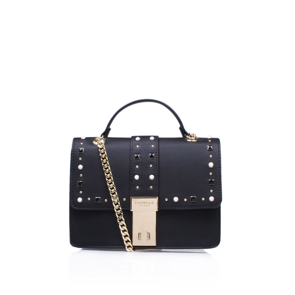 Carvela Opal stud xbody bag- Black