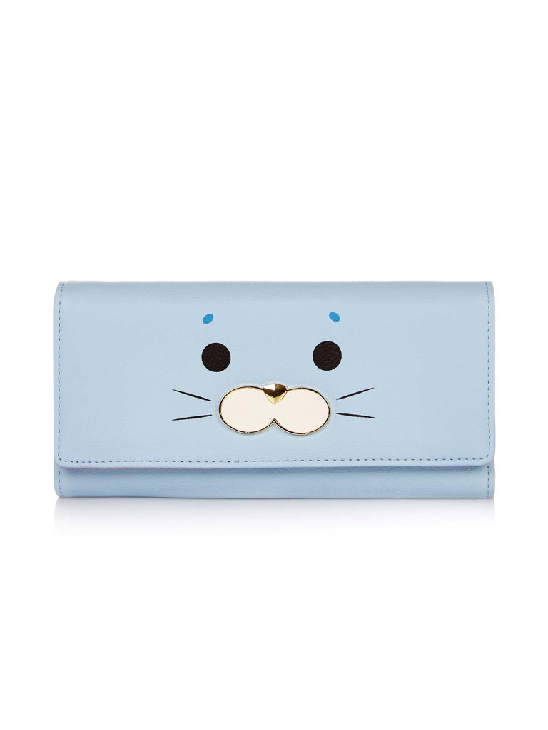 Yumi Animal Face Purse- Blue