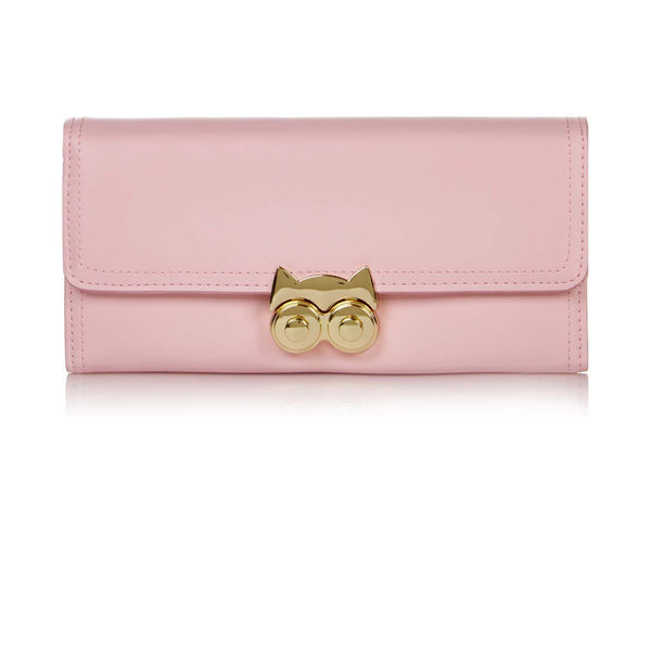 Yumi Cat Clasp Purse- Pink