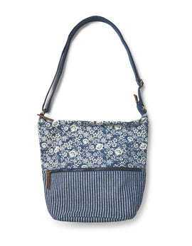 Fat Face Tia Woven Patchwork X Body- Blue