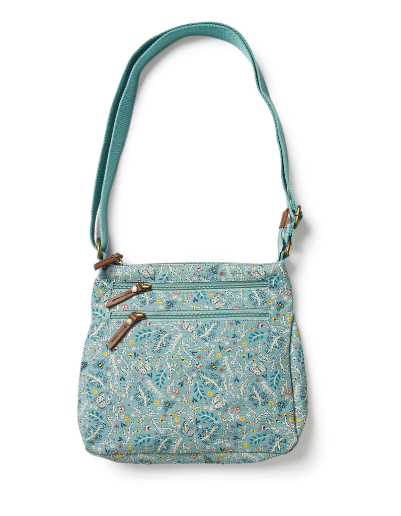 Fat Face Multi Floral Canvas Cross Body- Green