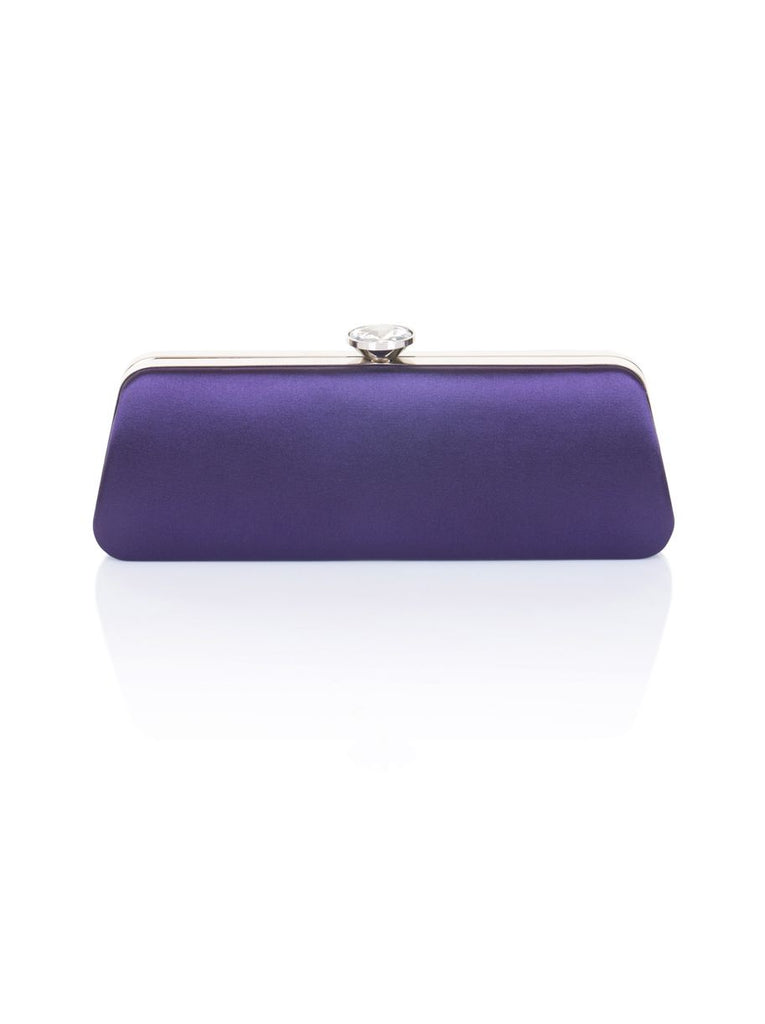 Chi Chi London Diamante Clasp Clutch Bag- Blue