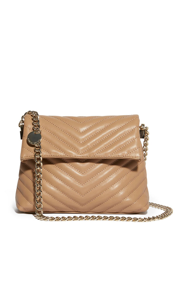 Karen Millen Mini Leather Regent Chain Bag- Nude