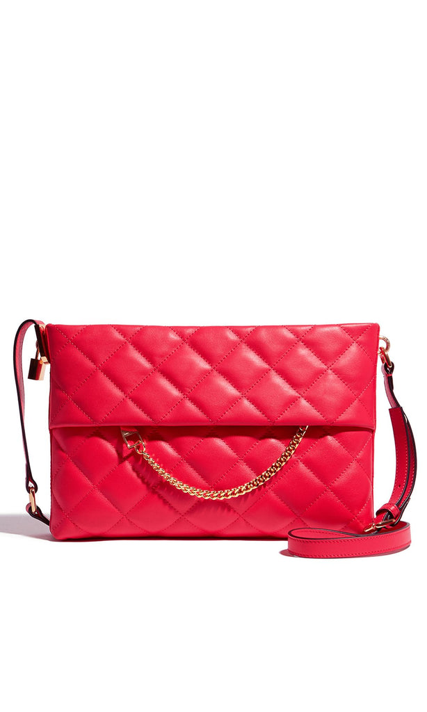 Karen Millen Chain Cross-Body Bag- Pink